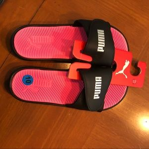 New Puma athletic slide Sandals Womens size 10